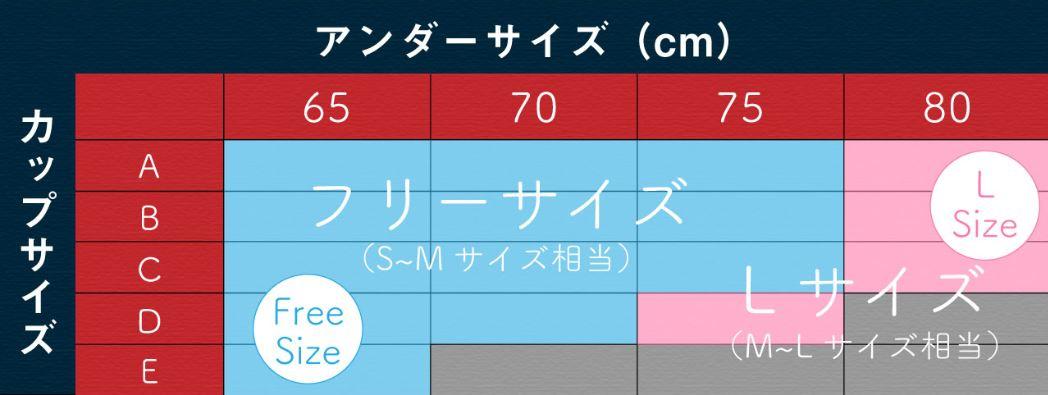 モテフィットの新しいサイズ表